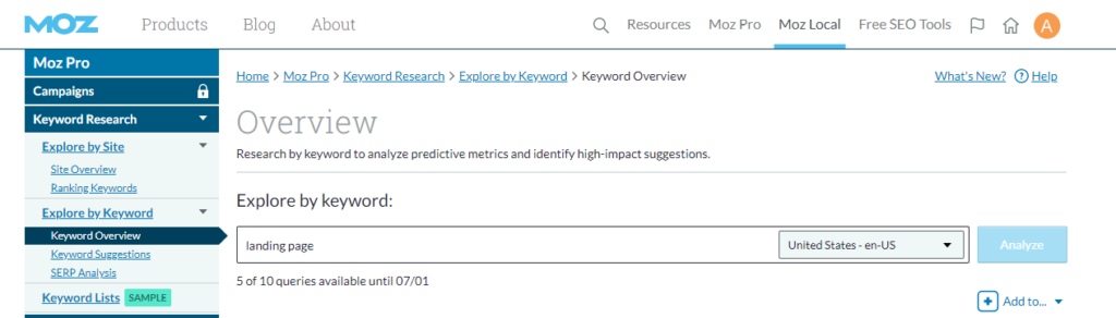 sfwpexperts.com-keyword-research-moz-pro